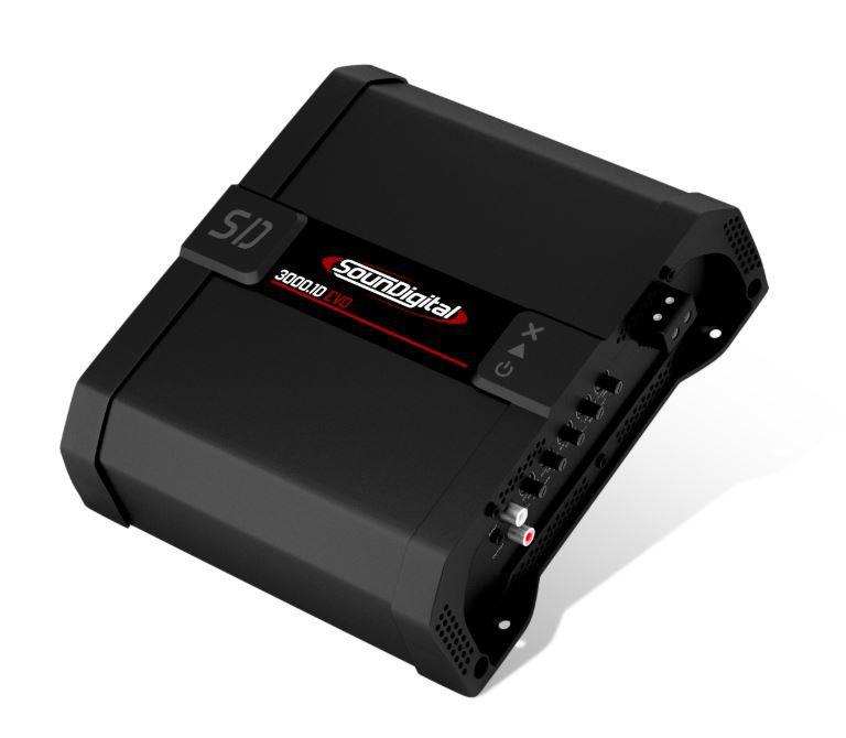Módulo Amplificador SounDigital SD3000.1D Evo 3000W Rms 2 Ohms 1 Canal