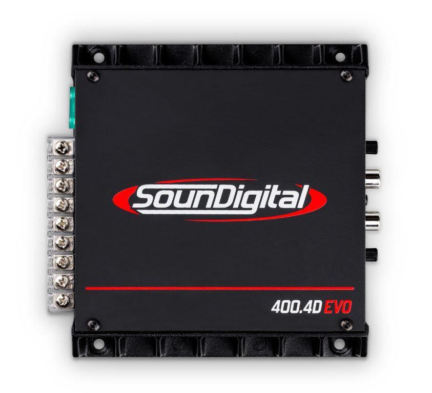 Módulo Amplificador Soundigital SD400.4D Evo 400W Rms 4 Ohms 4 Canais