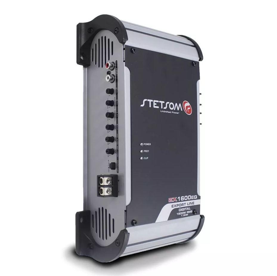 Módulo Amplificador Stetsom EX 1600 EQ 1600W Rms 1 Ohms 1 Canal