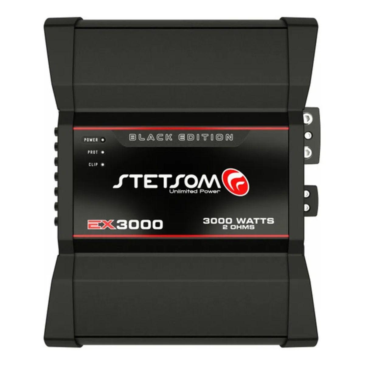 Módulo Amplificador Stetsom EX 3000 Black 3000W Rms 2 Ohms 1 Canal