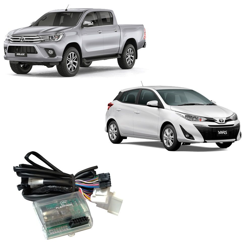 Módulo de Vidro Elétrico Flexitron para Toyota Hilux, SW4 e Yaris SAFE TY-YH 4.0