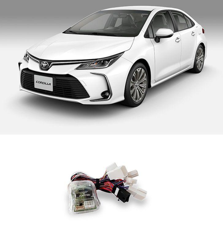 Módulo de Vidro Elétrico, Rebatimento retrovisor e Tilt Down Flexitron para Toyota Corolla Gli, Xei, Altis Hibrido 2020 4 Portas FCT VRD TY-CR 4.4