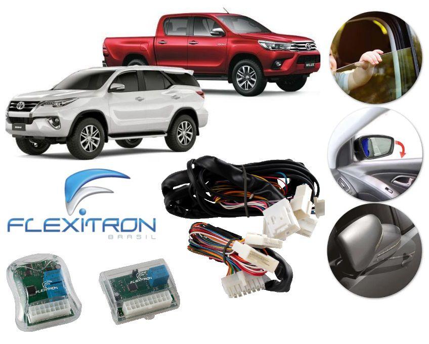 Módulo de Vidro Elétrico, Retrovisor e Tillt Down Flexitron para Toyota Hilux e SW4 XRS a partir de 2016 SAFE KIT TY-HL 4.1