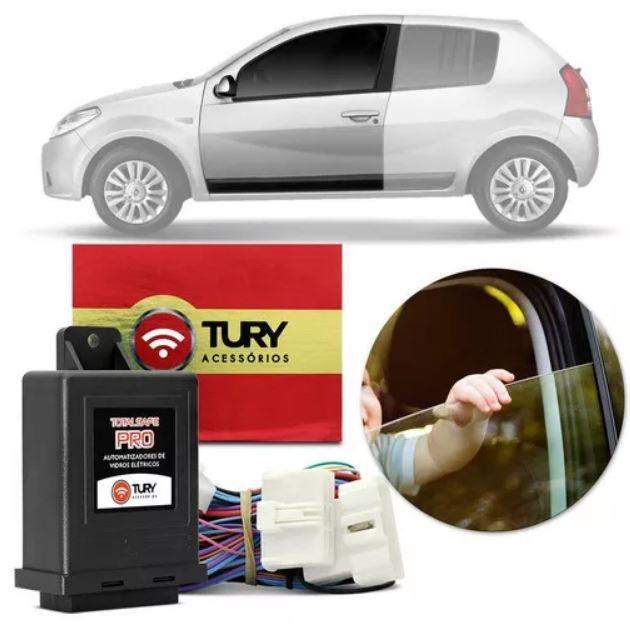 Módulo de Vidro Elétrico Tury Renault Duster 2011 a 2014 Logan e Sandero 2011 a 2013 2 Portas PRO 2.8 AX