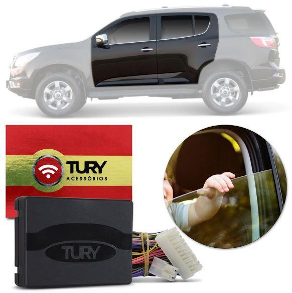 Módulo de Vidro Elétrico Tury S10 e Trailblazer Gasolina 2012 a 2016 4 Portas PRO 4.23 AS