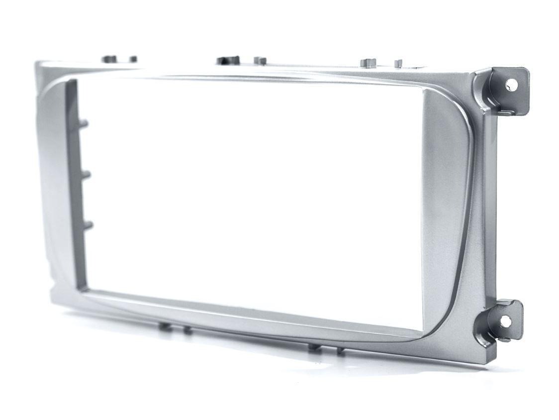 Moldura Painel 2 Din para Ford Focus 2009 até 2013 Prata EPX 287