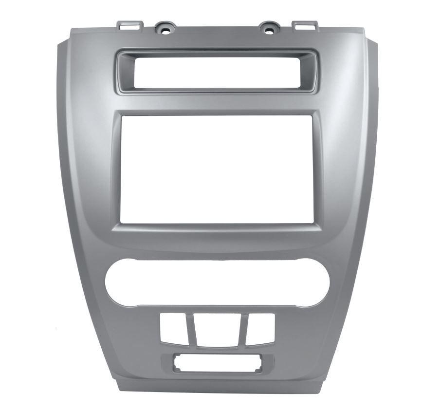 Moldura Painel 2 Din para Ford Fusion 2009 até 2012 Prata EPX 466