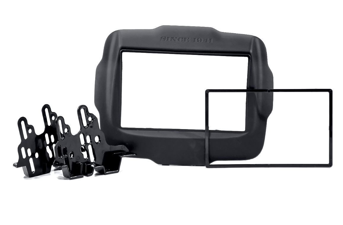Moldura Painel 2 Din para Jeep Renegade Preto Soft Emborrachado EPX 213
