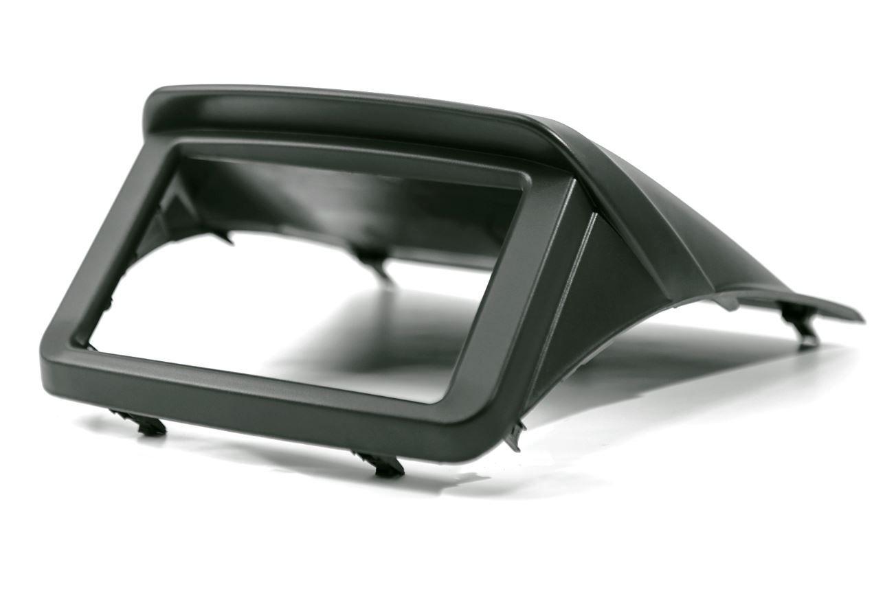 Moldura Painel 2 Din para L200 Triton e Pajero Sport Preta EPX 110