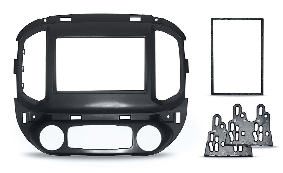 Moldura Painel 2 Din para S10 com AR Digital Preta EPX 420