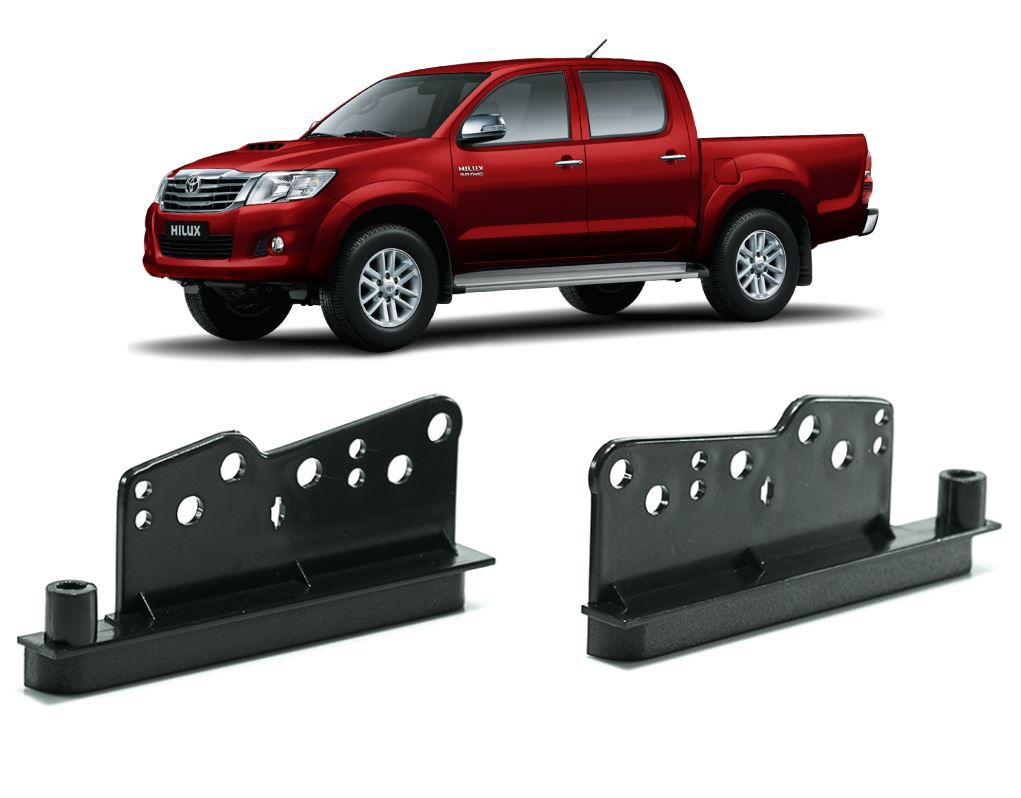 Moldura Painel 2 Din para Toyota Hilux 2005 a 2012 Preta EPX 081