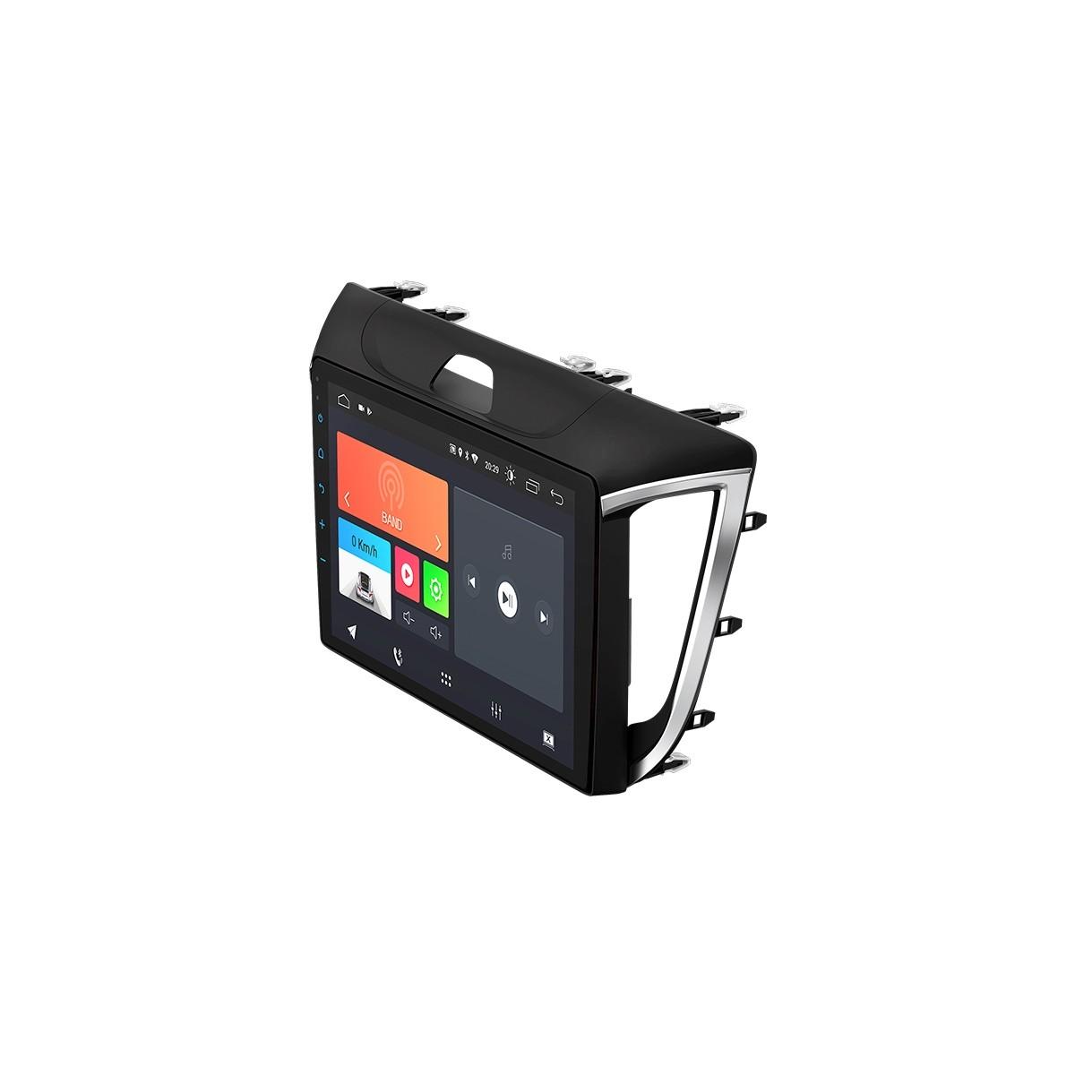 "Multimídia Android Faaftech 10,1"" FT-MM-AND10.1 HY2 USB Bluetooth Espelhamento Google Play Android 10 para Creta"