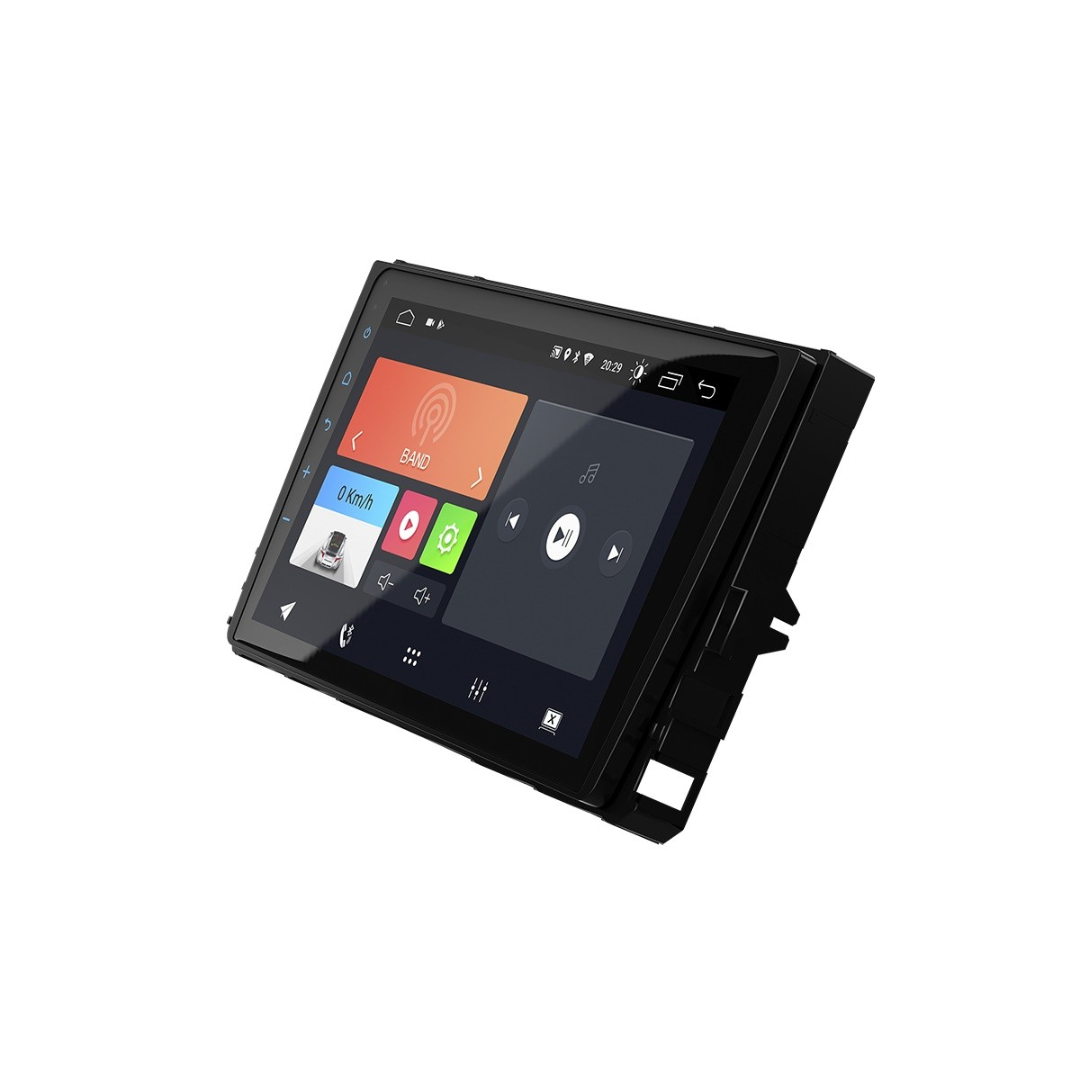 "Multimídia Android Faaftech 9"" FT-MM-AND9 VW USB Bluetooth Espelhamento Google Play Android 10 para Polo Virtus T-Cross"
