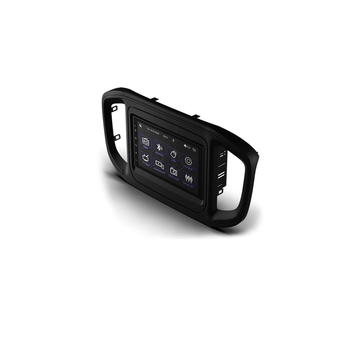 "Multimídia MP5 Faaftech 7"" FT-MM-MP5 ST USB Bluetooth para Fiat Strada 2021 Endurance e Freedom"