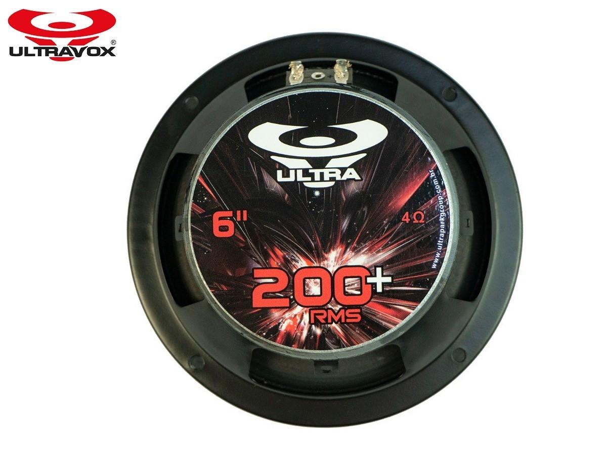"Par Alto Falante Woofer Ultravox Ultra 200+ 6"" 200W Rms 4 Ohms"