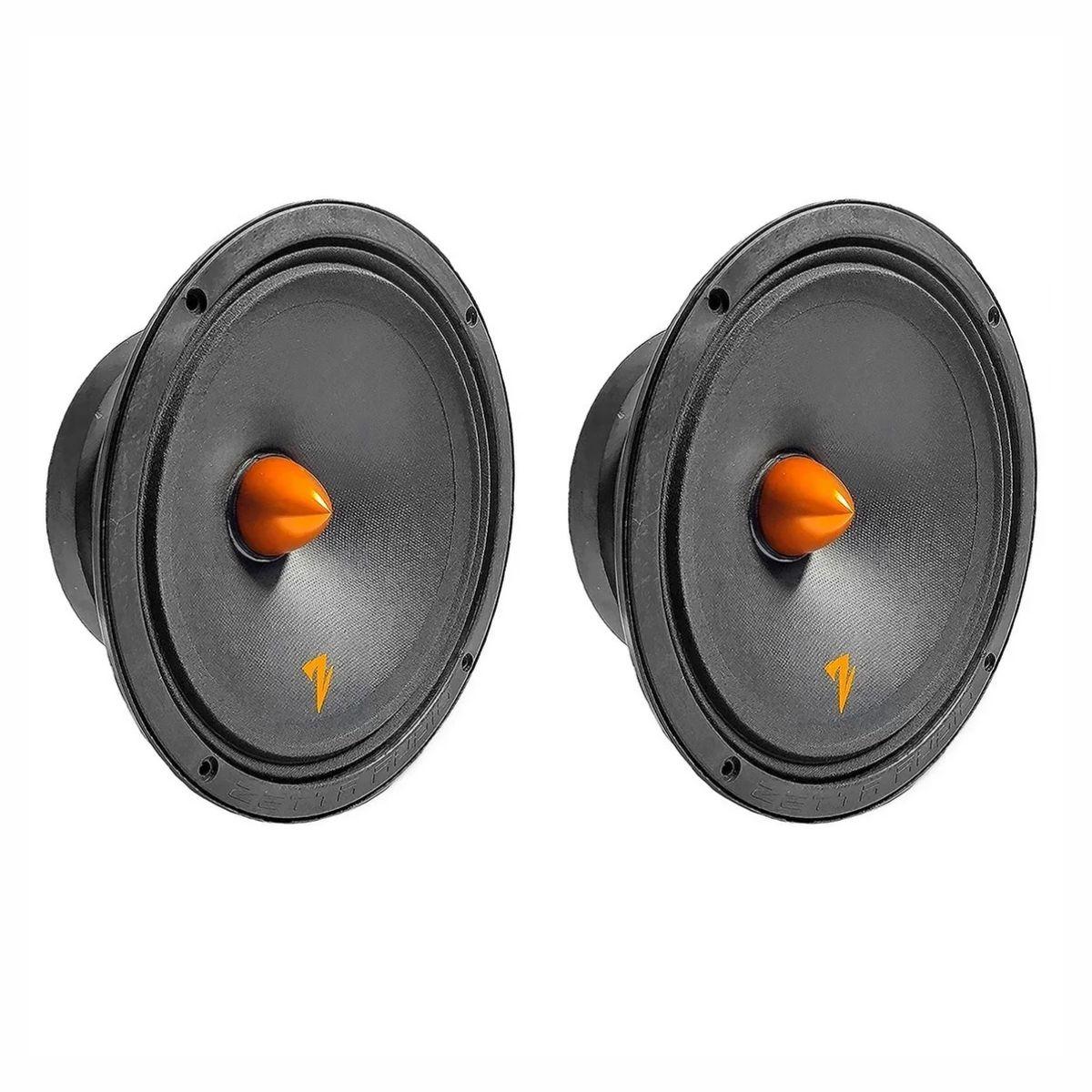 """Par Alto Falante Zetta Áudio 200MG-8 8"""" 200W Rms 4 Ohms"""