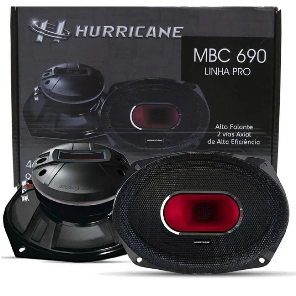 "Par de Alto Falantes Axial Hurricane 6X9"" MBC 690 460W Rms 4 Ohms"