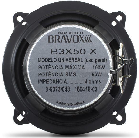"""Par Alto Falante Triaxial Bravox 5"""" B3X50X 100W Rms 4 Ohms"""