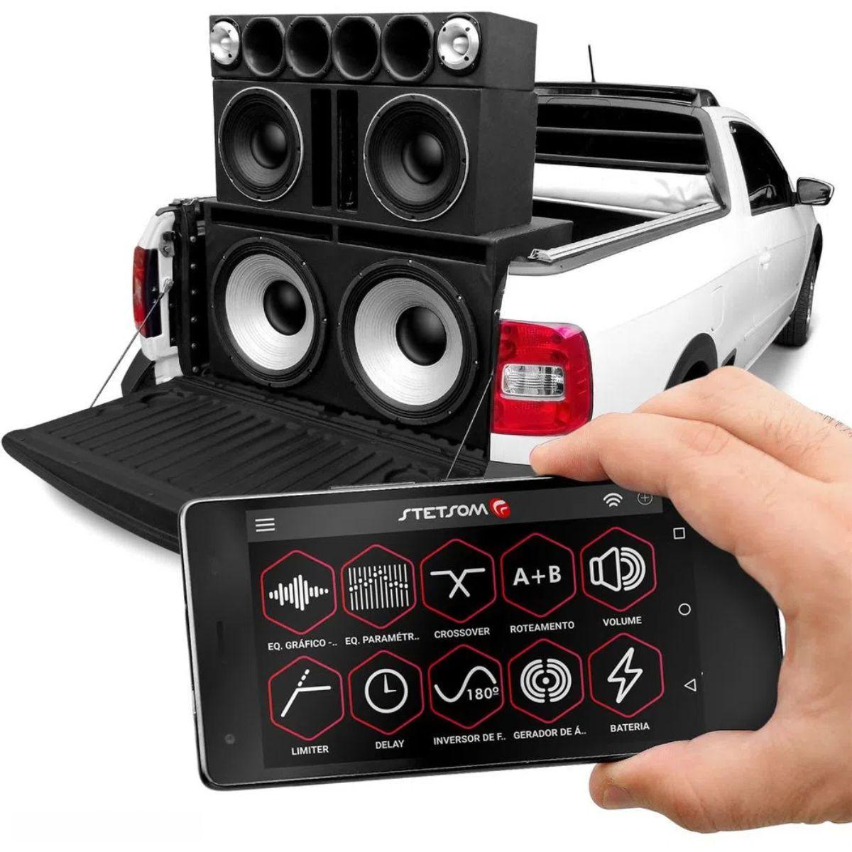 Processador de Áudio Stetsom STX2436 4 Vias 48 dB/8ª