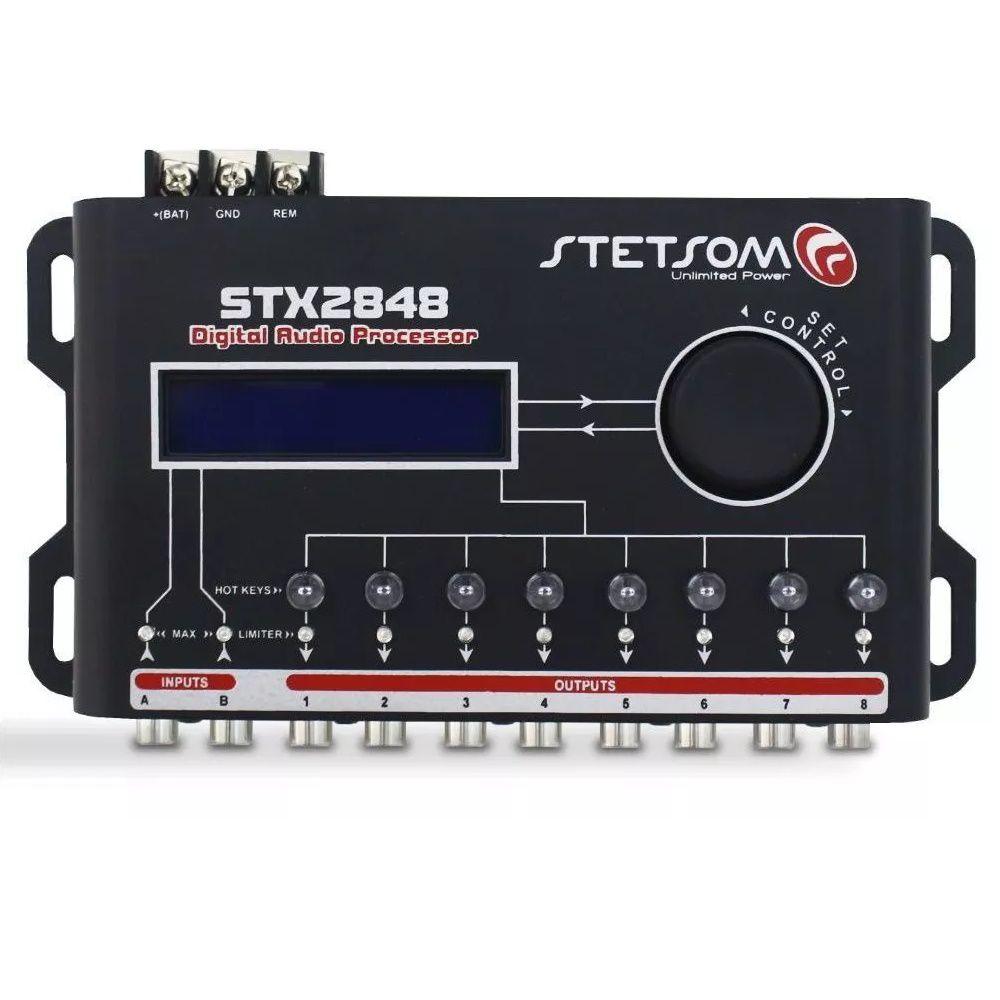 Processador de Áudio Stetsom STX2848 8 Vias 48 dB/8ª