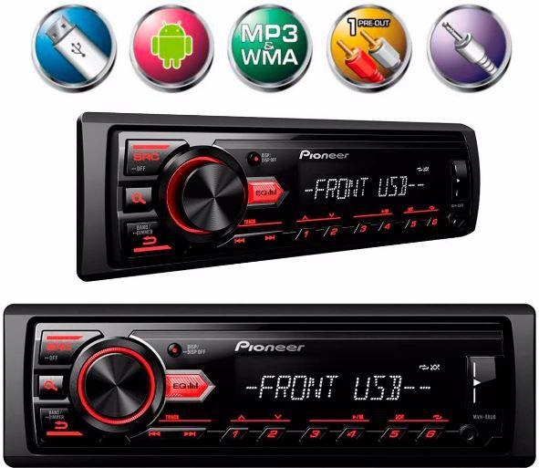 Radio Automotivo Pioneer Mp3 Player Mvh-98ub Usb Aux