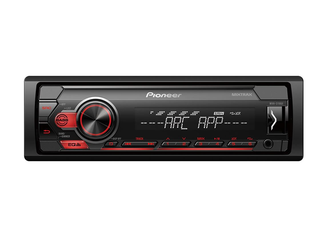 Radio Automotivo Pioneer Mp3 Player Mvh- s118ui Controle Usb Aux Mixtrax