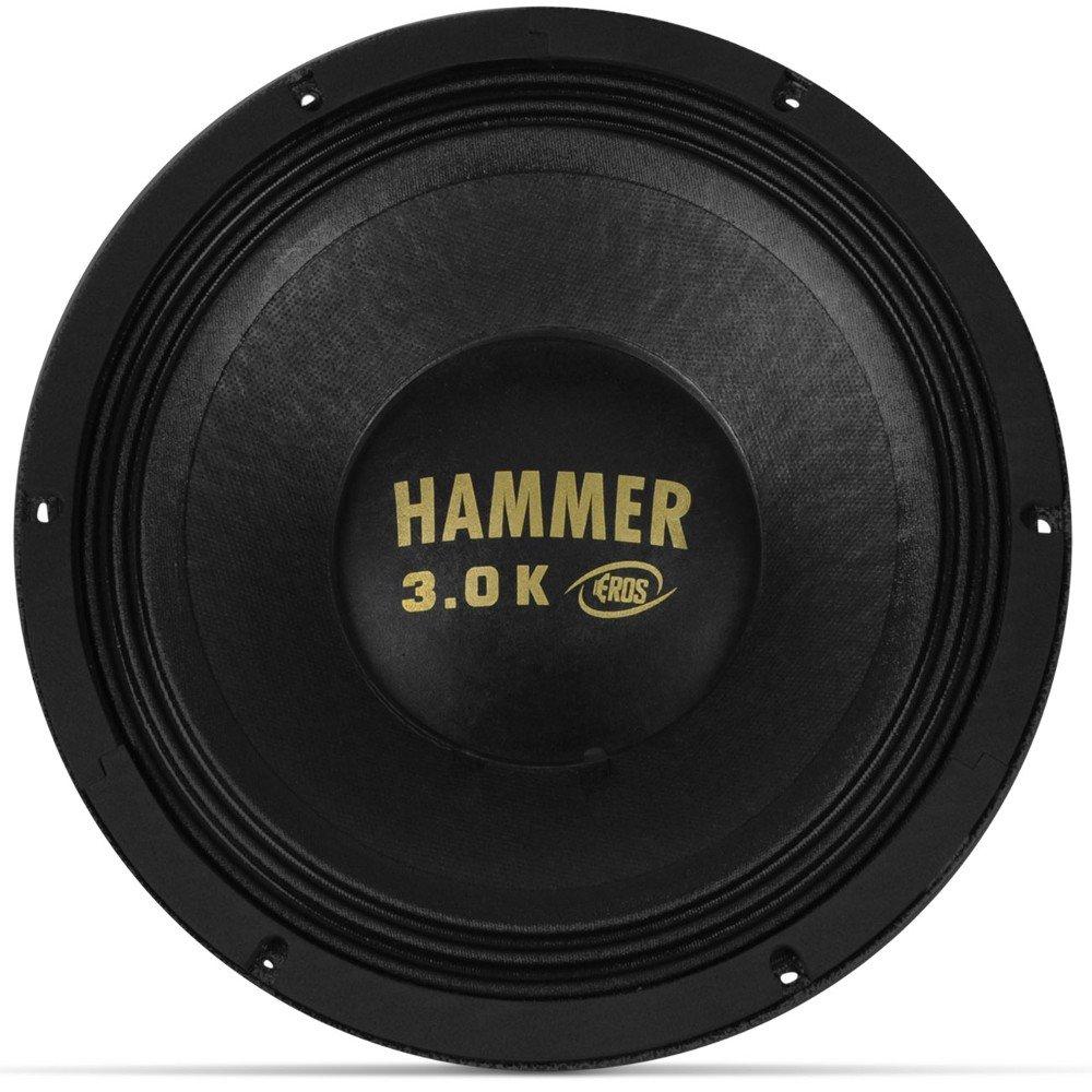 """Alto Falante Woofer Eros 12"""" E12 Hammer 3.0K 1500W Rms 4 Ohms"""