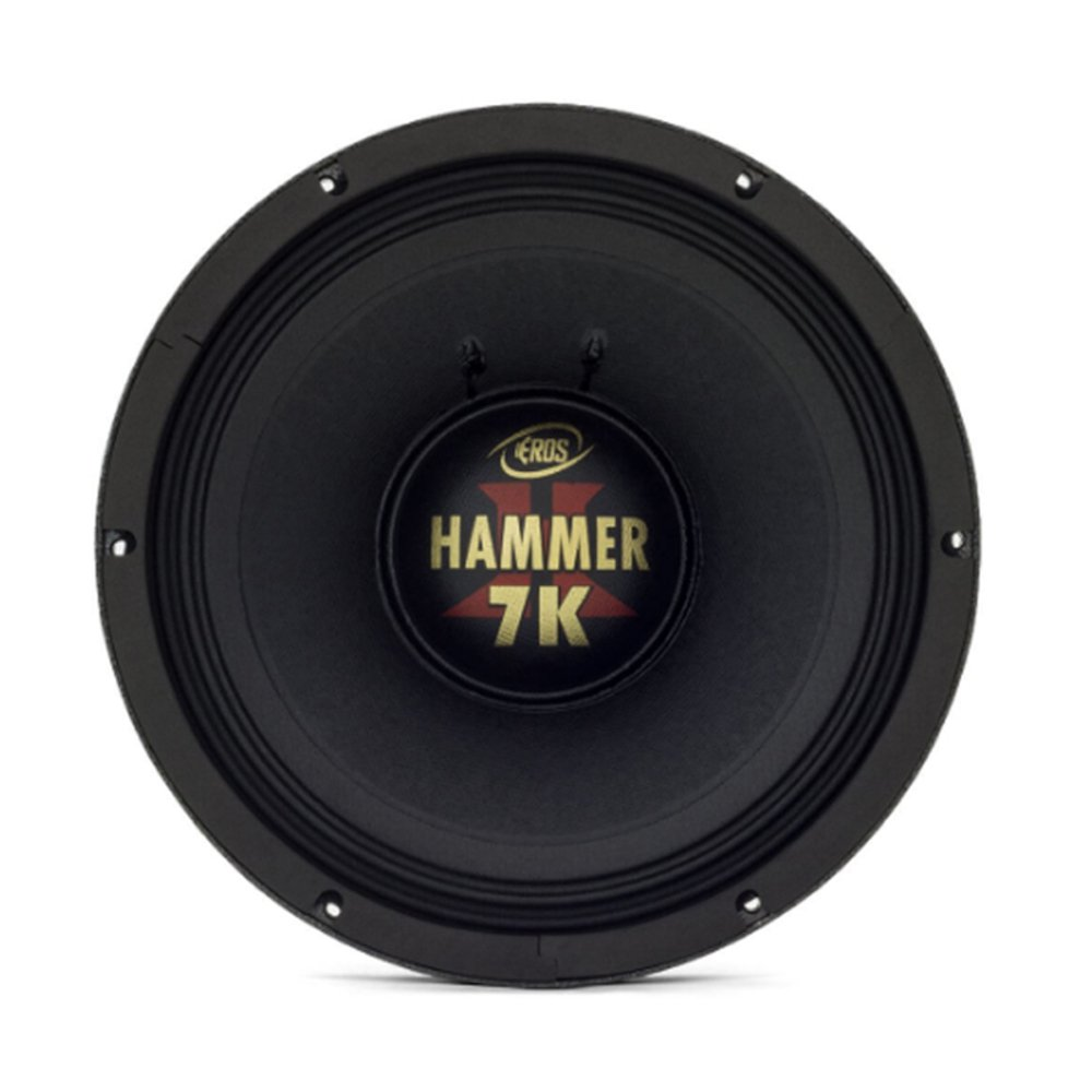 """Alto Falante Woofer Eros 12"""" E12 Hammer 7K 3500W Rms 2 Ohms"""