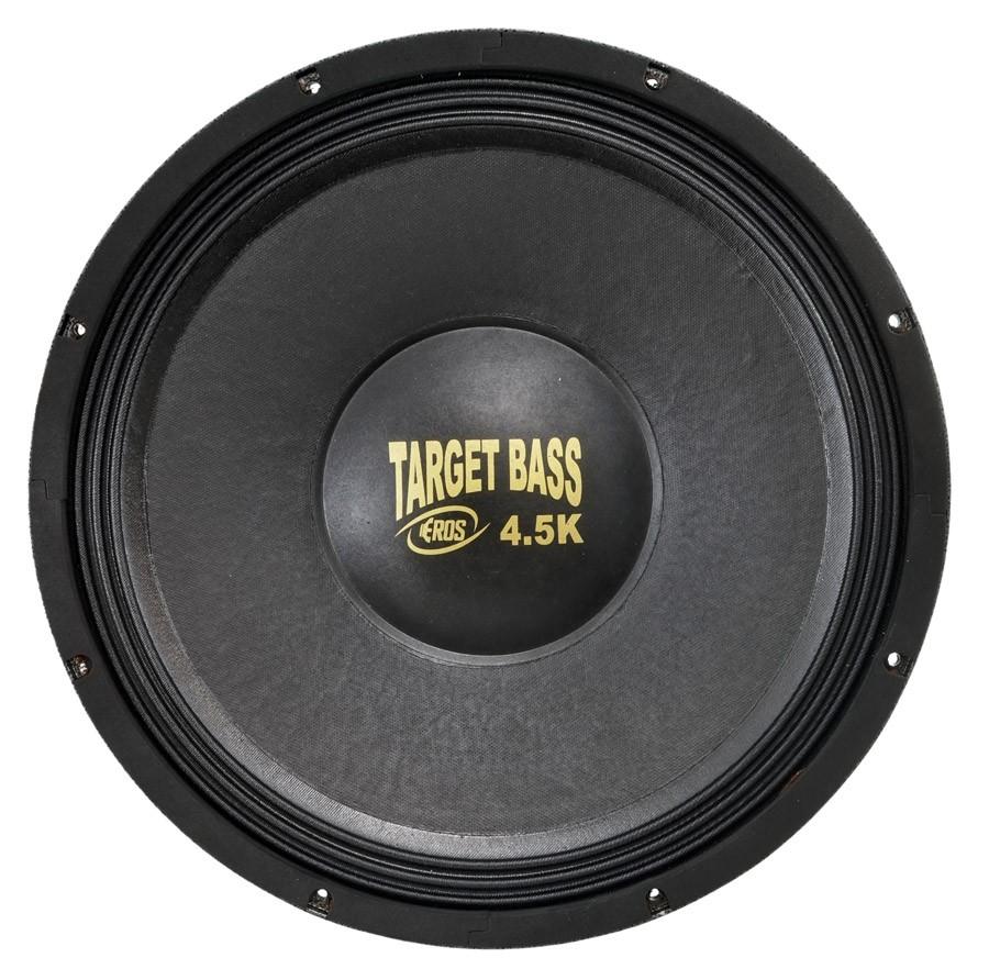 """Alto Falante Woofer Eros 15"""" E15 Target Bass 4.5K 2250W Rms 4 Ohms"""