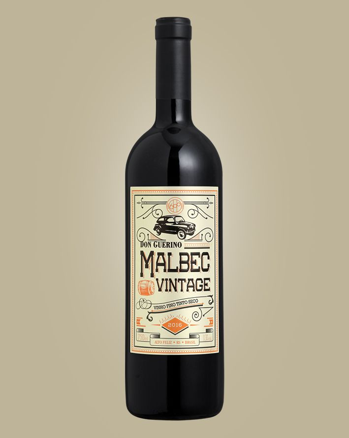 Vinho Don Guerino Vintage Malbec 2018 Tinto Brasil 750 ML