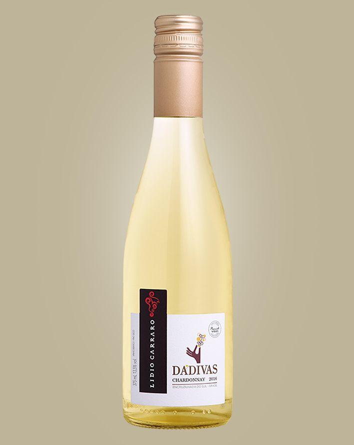 Vinho Lidio Carraro Dadivas Chardonnay 2017 Branco Brasil 375 ML