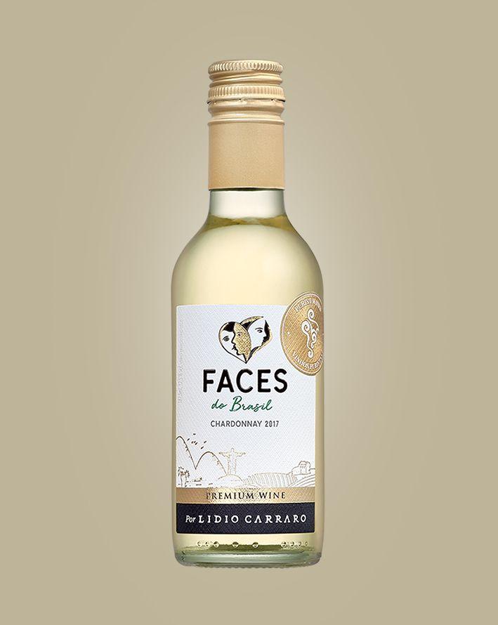 Vinho Lidio Carraro Faces Chardonnay Branco Brasil 187 Ml