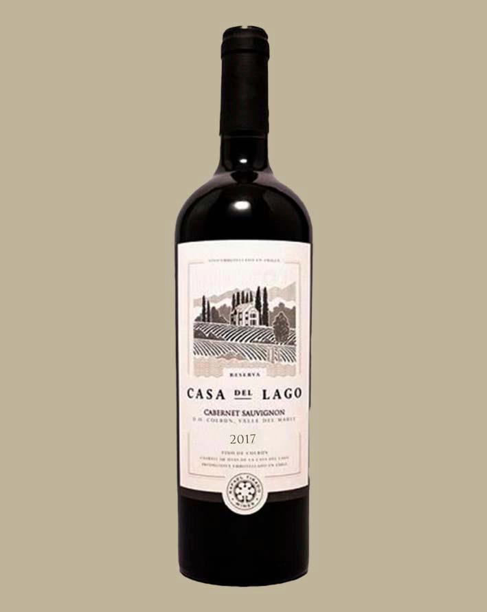 Vinho Casa Del Lago Cabernet Sauvignon 2017 Tinto Chile 750 ml