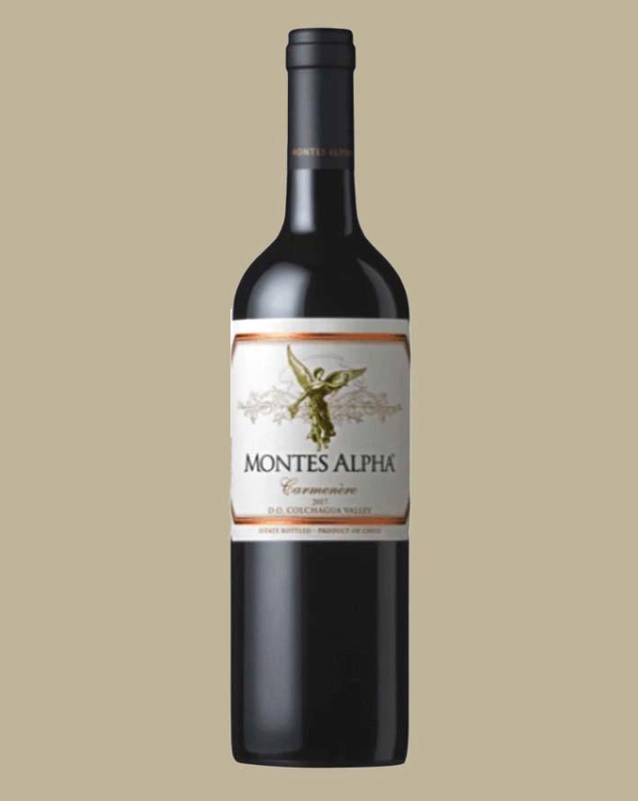 Vinho Montes Alpha Carmenère 2017 Tinto Chile 750 ml