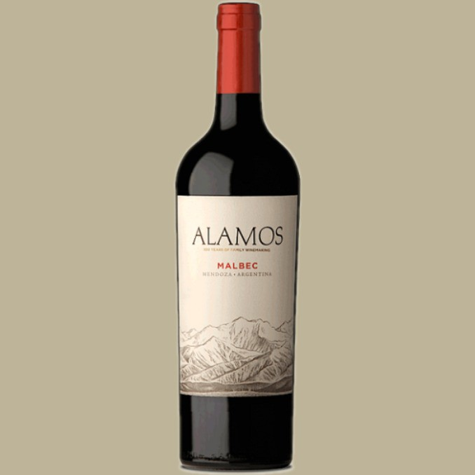 Vinho Alamos Malbec 2018 Tinto Argentina 750 ml