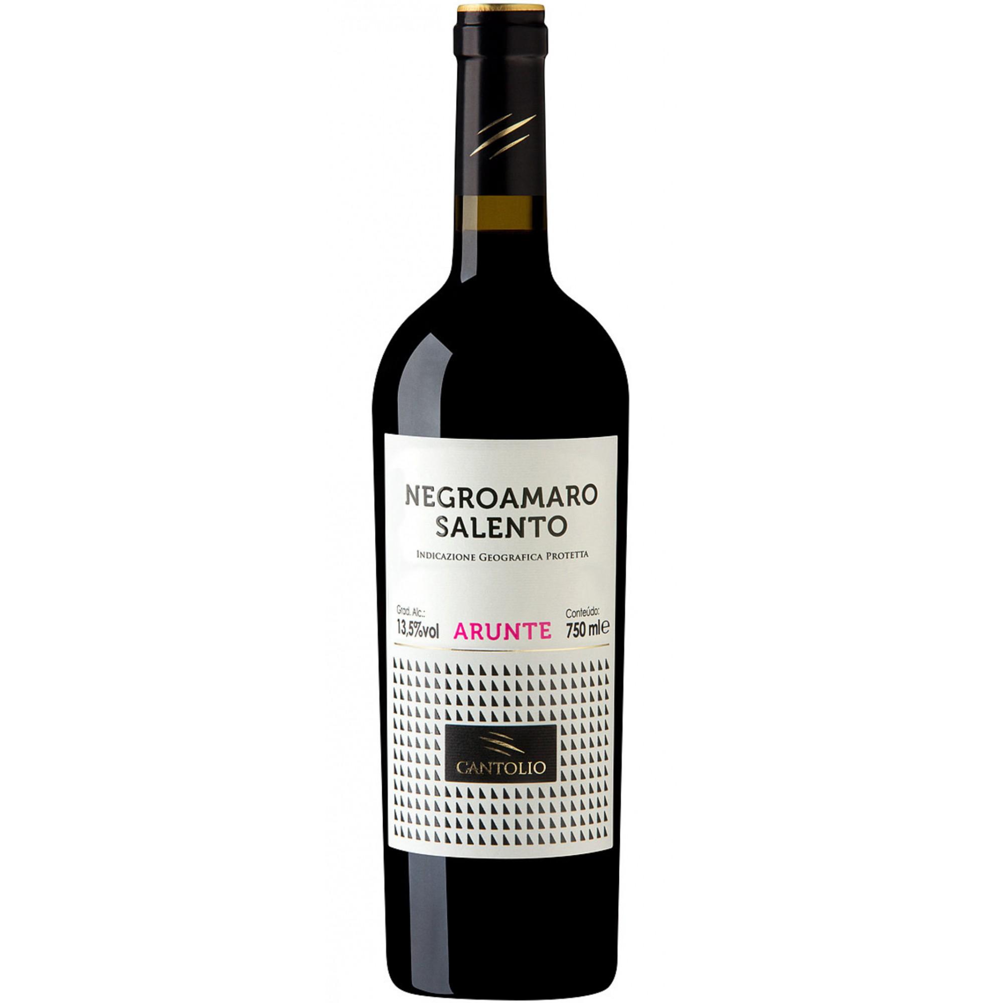 Vinho Cantolio Arunte Negroamaro 2018 Tinto Italia 750 ml