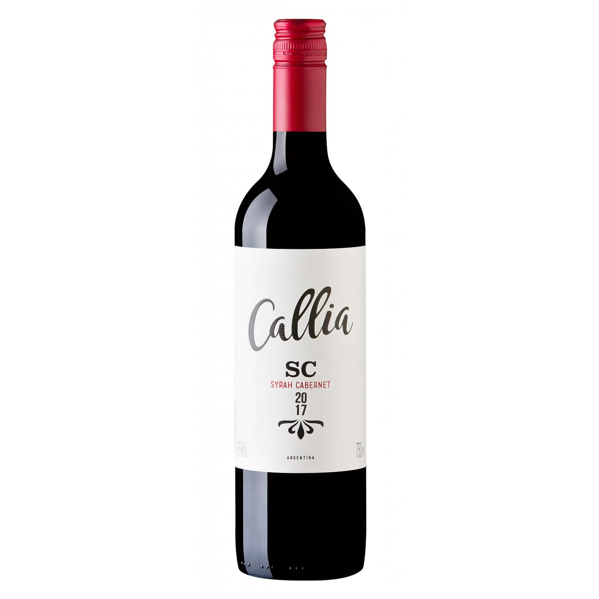 Vinho Callia Syrah Cabernet 2017 Argentina Tinto 750 ml