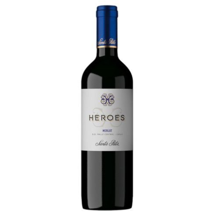 Vinho Santa Rita Heroes Marlot 2017 Tinto Chile 750ML