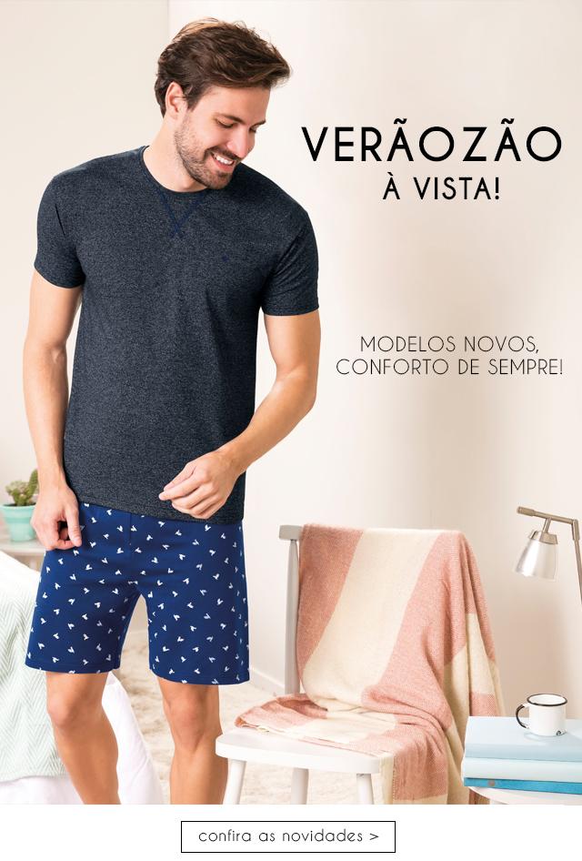 Novidades em pijamas masculinos, verão refrescante com conforto