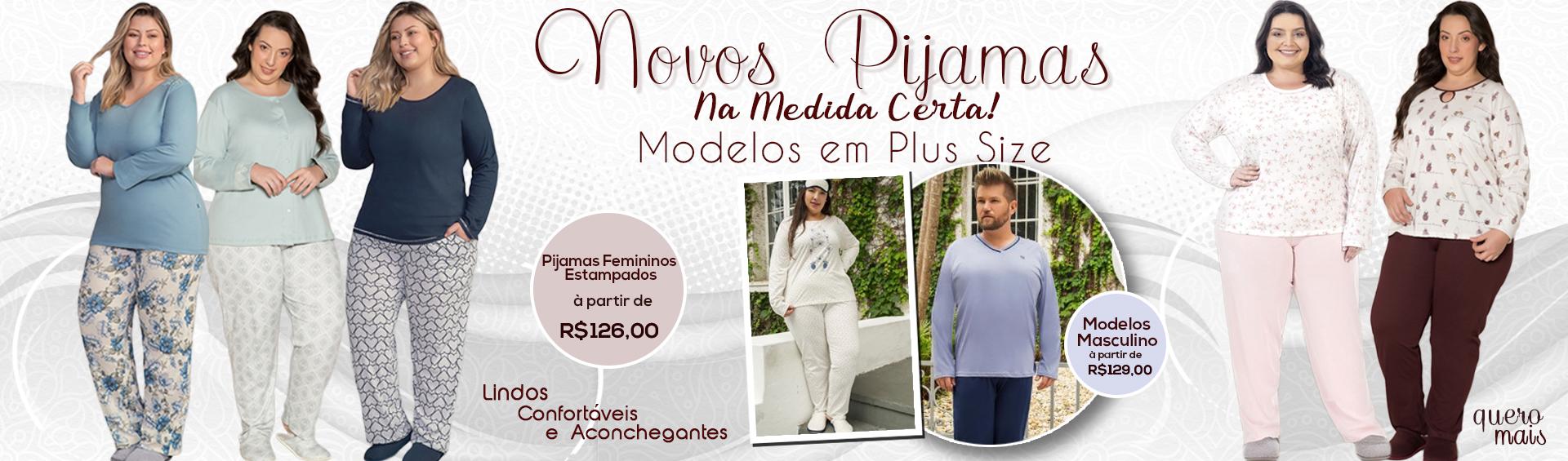 Pijamas Quentinhos Plus Size