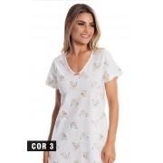 Camisola Manga Curta 100% Algodão Toque Leve e Aveludado -  Paulienne C21063A