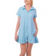 Robe Feminino Curto Atoalhado com Zíper e Bolsos Foxx 262019