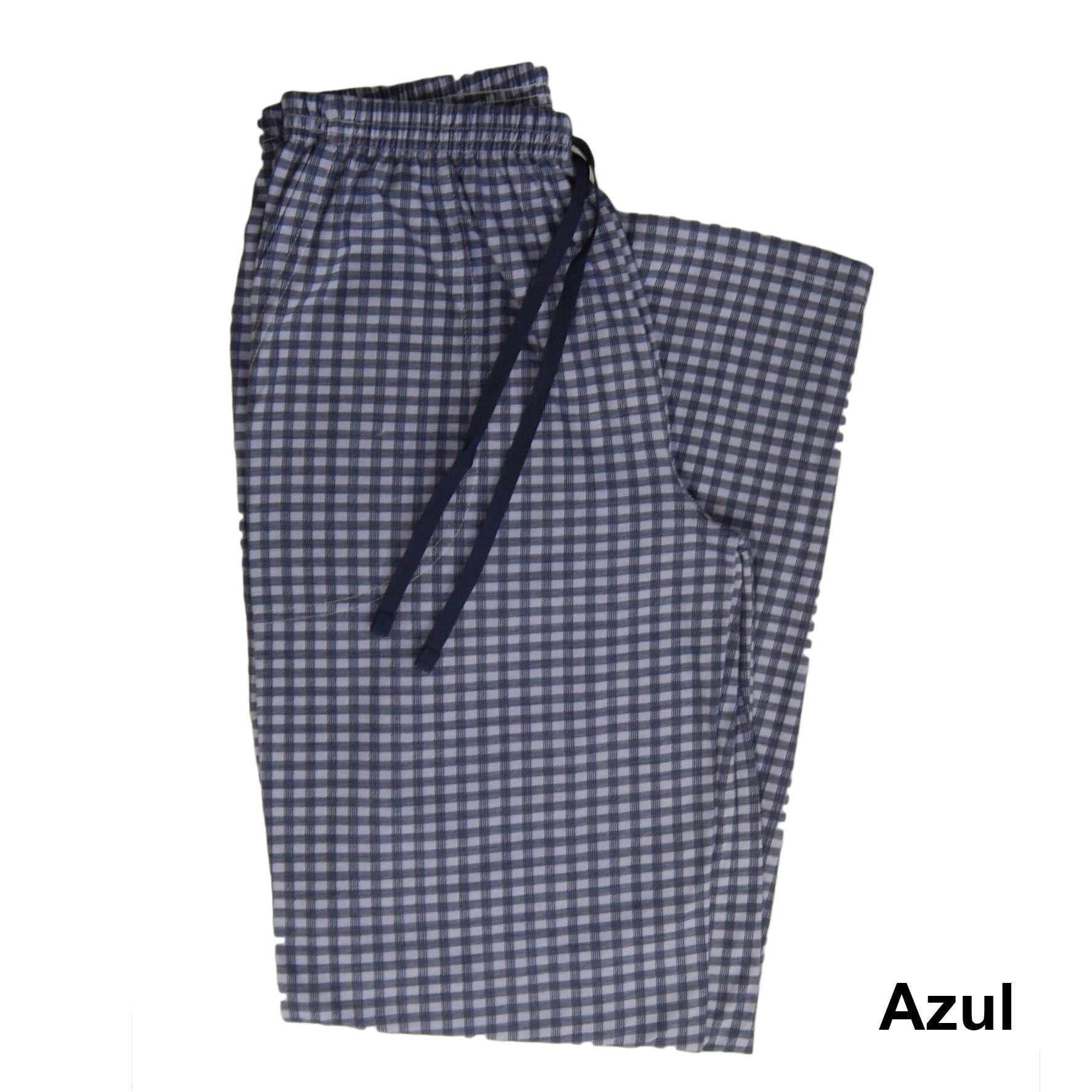 Calça Avulsa Masculina Xadrez de Algodão com cordão e bolso Foxx 262614