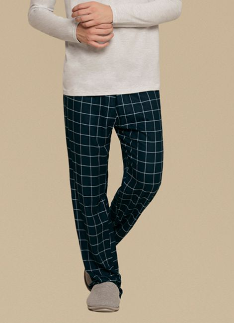 Calça Masculina Avulsa de Algodão Listrada com Bolsos Foxx 263107