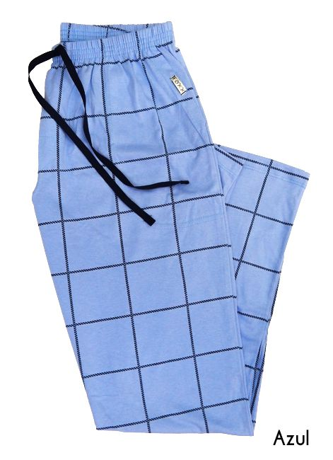 Calça Masculina Avulsa de Algodão Xadrez com Bolsos Foxx 263107