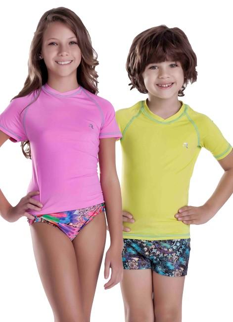 Camiseta Térmica Proteção UV 50+ - Moda Praia Infantil a92f5c975d5