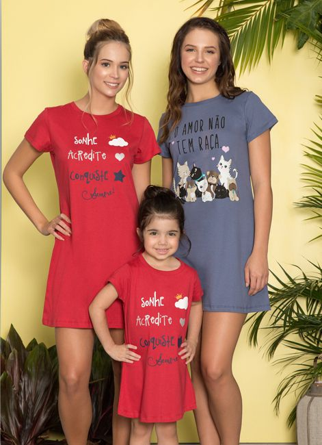 Camisola Curta de Algodão Estampada Plus Size Pzama 052070