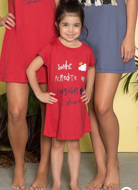 Camisola Curta Infantil de Algodão Pzama 052026 208ee0a3c673b