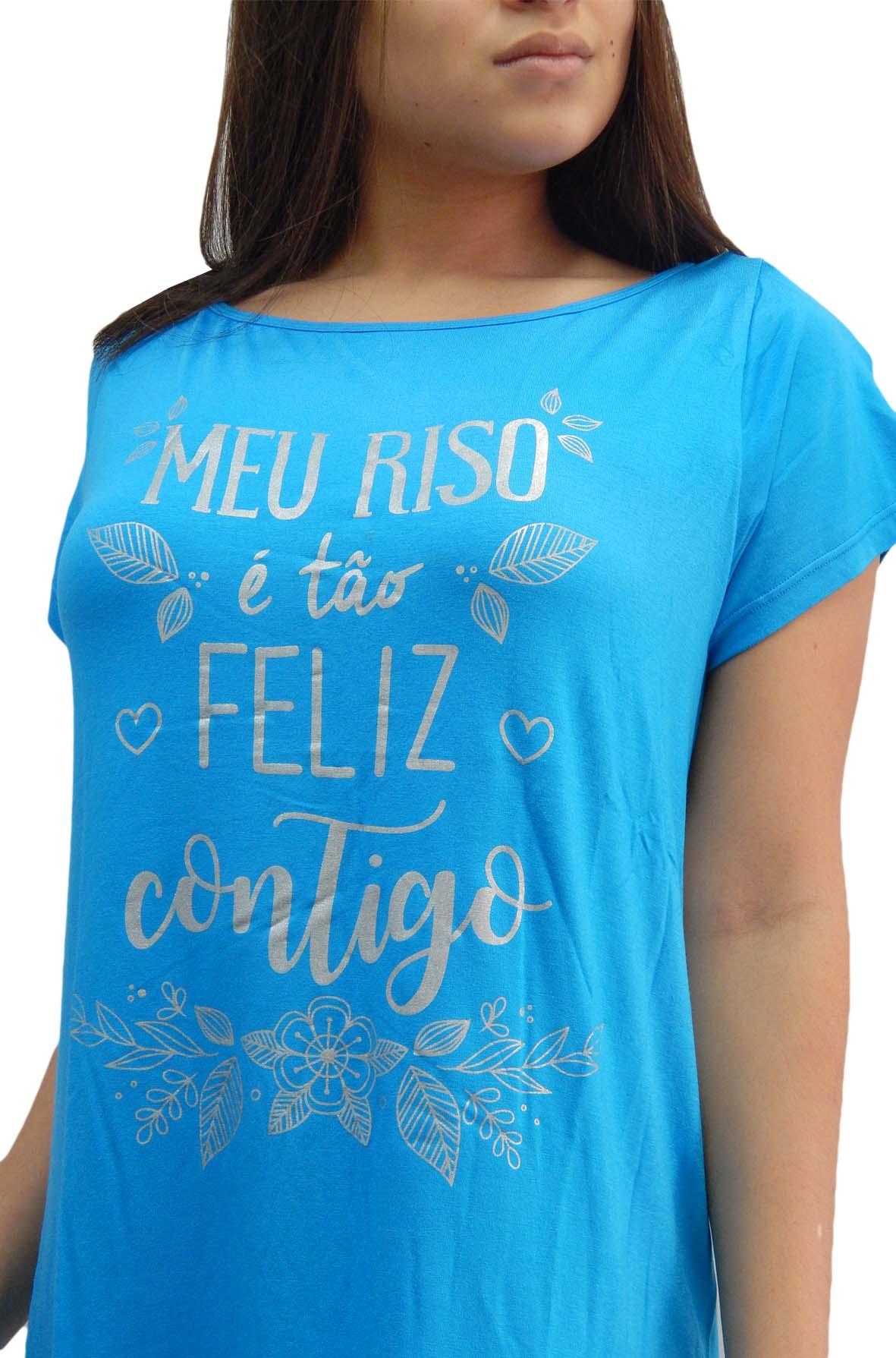 Camisola Estilo Camisetão Curto e Solto - Paulienne  JC614759