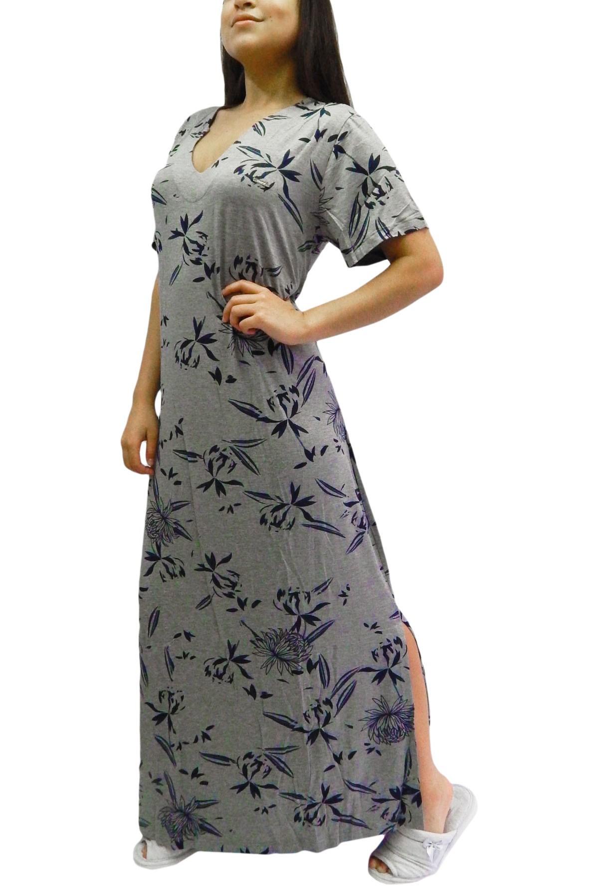Camisola Longa de manga curta solta em Visco Foxx 263357